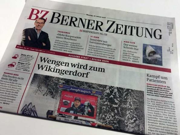 Titelseite Berner Zeitung